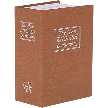 Caja Fuerte con Forma de Libro, con Cierre Antirrobo de Contraseña para Gurdar Dinero - Cafe ligero: Amazon.es: Oficina y papelería