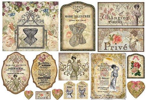 'Motivo–in seta di paglia Madame Clark '