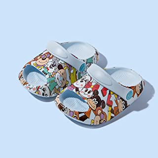 COQUI Slippers Hombre casa,Zapatos de la Cueva para niños Que Imprimen Hombres y niñas Zapatillas frías Sandalias Infantil...