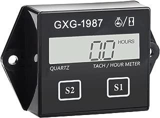 GXG-1987 Digital Hour Meter Tachometer Tach Tacho for Yamaha Honda Kawasaki BMW