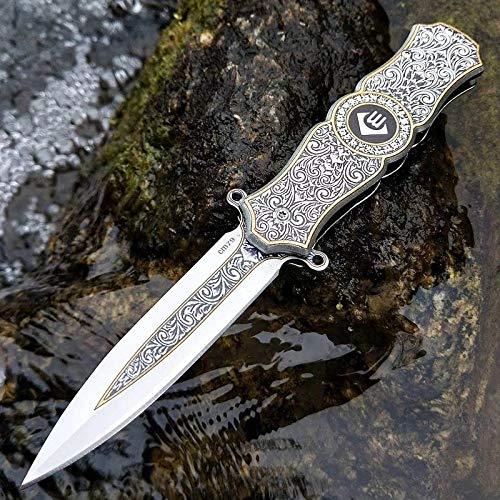 Federunterstütztes Offenes Messer Taktisches Klappmesser Taschenmesser Camping Multitool Outdoor Jagdmesser Stahlgriff