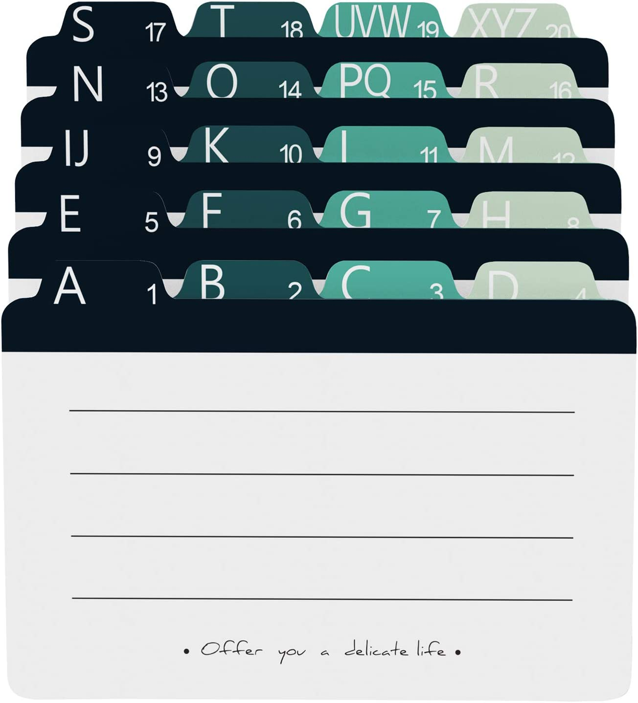 MaxGear Index Card Dividers 5 x Alphabetical Dealing full price reduction 8 Tabbed Ind In stock inches