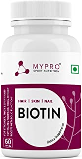 Mypro Sport Nutrition Mypro Nutrition Biotin   Beauty Capsules   Promotes Healthy Hair   Skin & Nails   Helps Support Ener...
