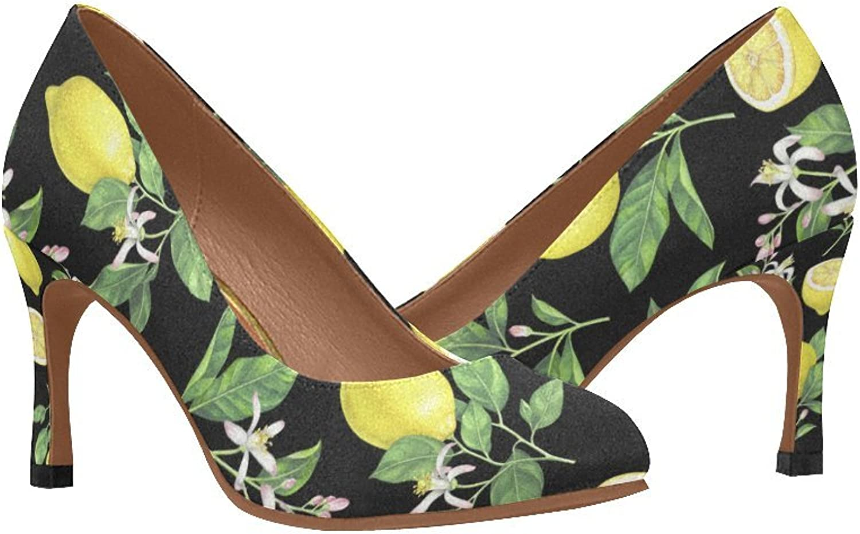 InterestPrint Women's Classic Fashion High Heel Dress Pump shoes