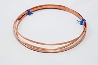 1 Ounce (2.5 Ft) Solid Copper Wire 8 Gauge, Half Round, Dead Soft - from Craft Wire
