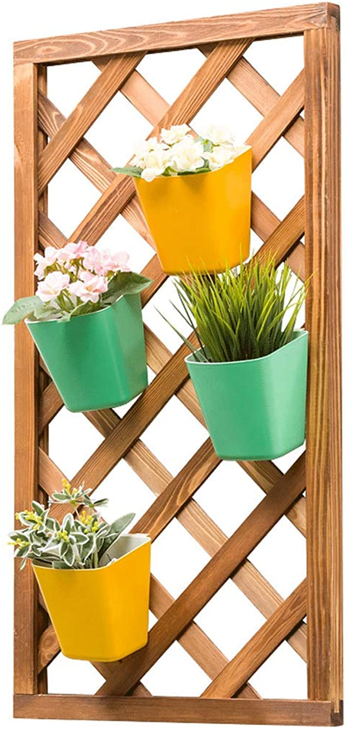 Rectangular Wall Hanging Flower Shelf Solid Wood Indoor Multi-Layer Living Room Flowerpot Fleshy Space Space Flower Stand
