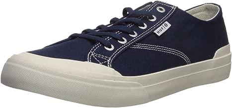 HUF Men's Classic LO ESS TX Skate Shoe, Navy/Cream, 5 Regular US