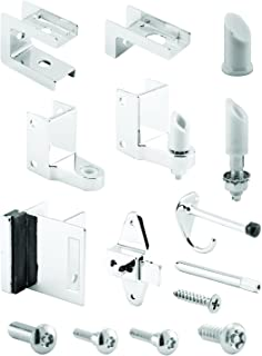 Sentry Supply 656-8453-T, 1in. Door & 1-1/4in Pilaster, Zamak, Chrome Plated, Outswing, Pack of 1 Kit
