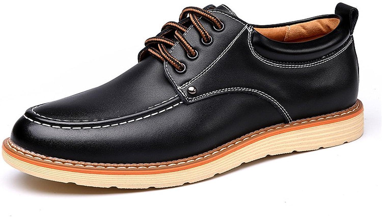 CHENDX CHENDX Schuhe, Herren Casual Lace Up PU Leder Business Halbschuhe Arbeitsschuhe (Farbe   Schwarz, Größe   43 EU)  100% nagelneu mit ursprünglicher Qualität