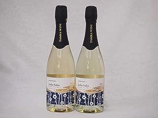 2本セット 国産フルーツ梅スパークリングワイン Joshu haku 京都山城青谷産城州白梅スパークリング やや甘口 丹波ワイン (京都府) 750ml×2本