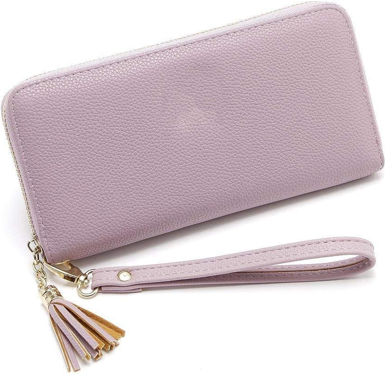 Girls Purse Women's Wallet Women's Large PU Wallet Multicolor Mobile Phone Bag Zipper Wallet (color   C)