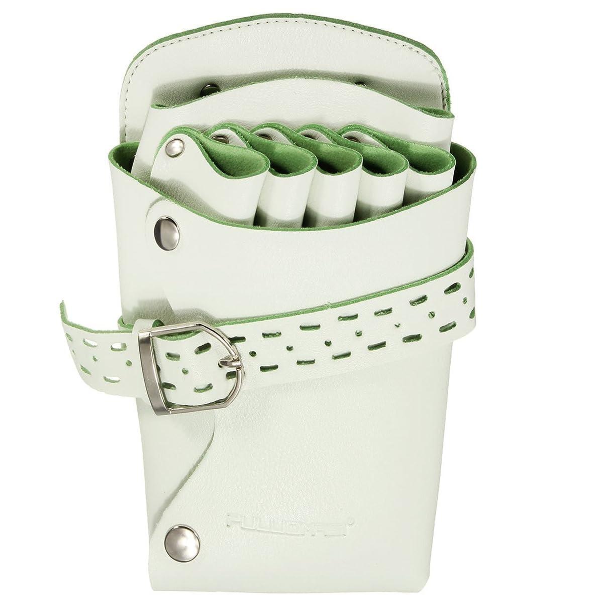 バージン活気づける珍味シザーケースシザーバッグ ハサミ収納 美容師 サロン トリマー 用 2色 淡い緑色