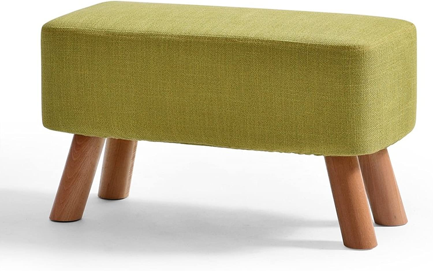 LJHA ertongcanyi Creative Cloth Footstool Changing His shoes Stool Bench Solid Wood Sofa Stool (6 Sizes Optional) (color   C, Size   57  35cm)