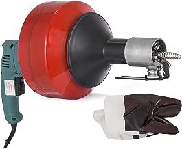 Tacklife Drain Cleaner 18 V 19-50 mm Diameter Hose 7.6 m Long and 7 mm Diameter Drain Unblocker Tool Perfect for Drains Baths HGDDC1A