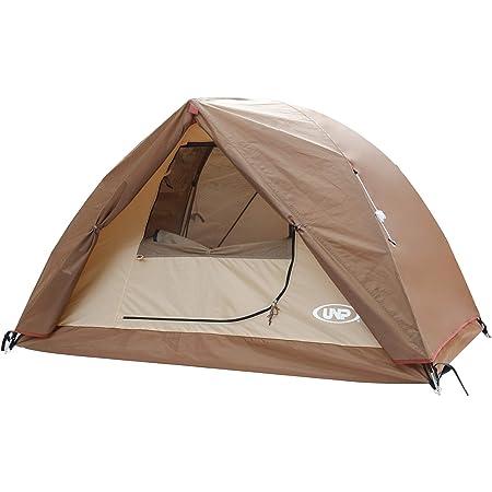 UNP テント 1-2人用 キャンプテント 前室付き 二重層構造 アウトドア &ツーリング用 防風 防水 軽量 通気 ソロキャンプ 組み立て簡単