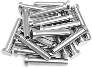 "Alamic Stainless Steel Hand-Crimp Stemball Swage Fixed Ends T316 for 1/8"" Cable Railing Deck Railing Hand Railing Wood & Metal Post Hand Crimp Stemball Swage - 20 Pack"