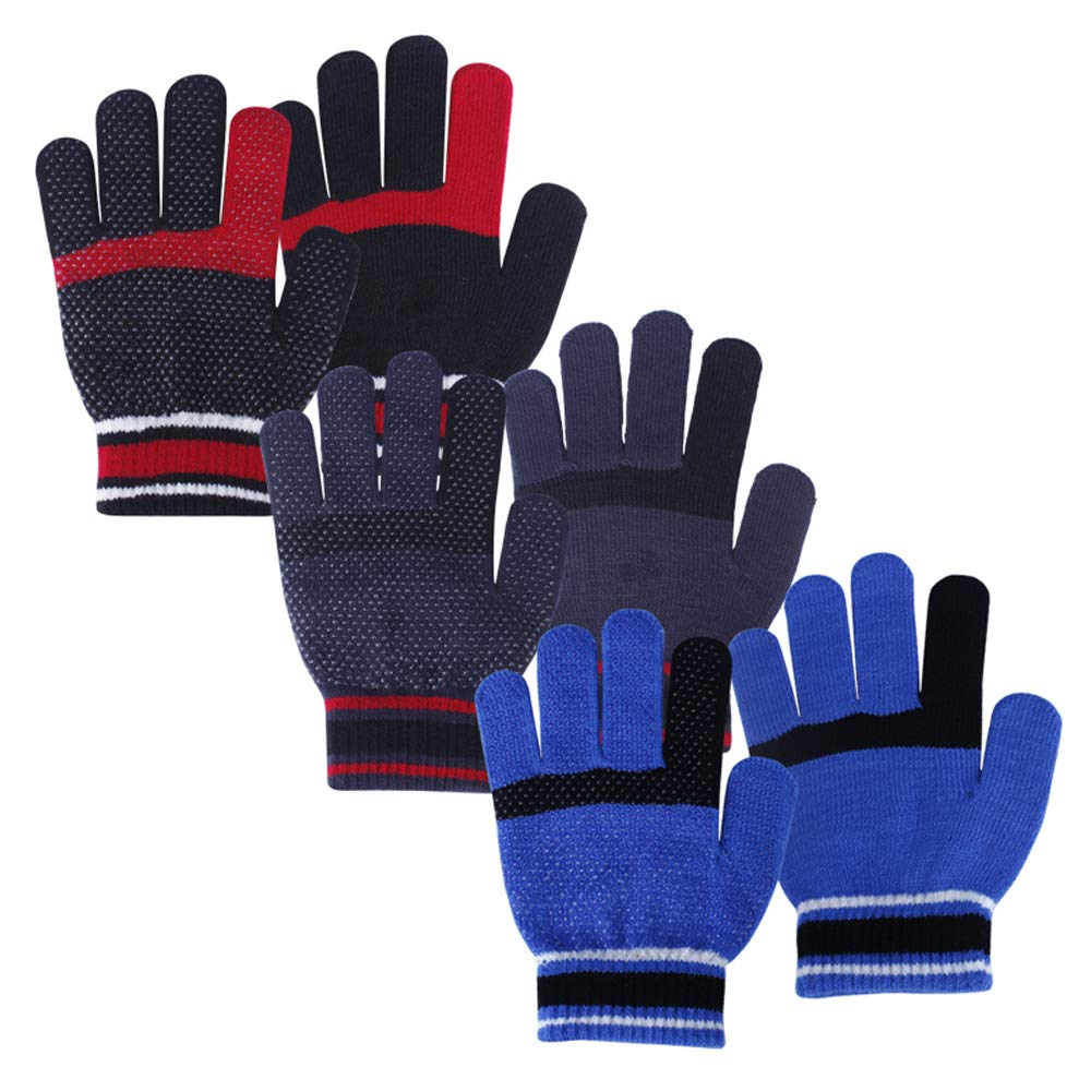 Kids Boys Girls Super Cute Fruit Warm Gloves Winter Mittens Thick Fleece Lined Knit Gloves with Neck Hang String Full Finger Thermal Ski Gloves Cold Weather Outdoor Hand Warmer Wear for Kids Ages 1 to 4