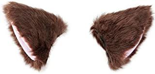 BAOBAO Cat Fox Long Fur Ears Hair Clip Headwear Cosplay Halloween Costume