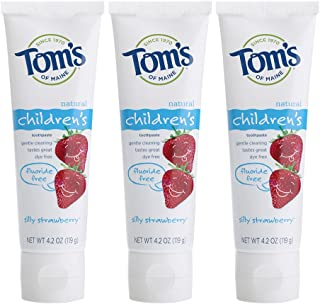 Tom's of Maine Fluoride-Free Children's Toothpaste, Kids Toothpaste, Natural..