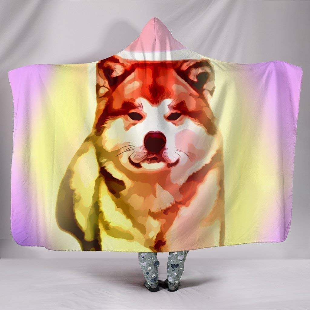 Colorful 100% quality warranty! Akita Dog Max 64% OFF Blanket Hooded Print