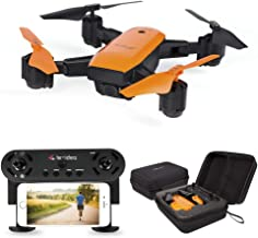 le-idea IDEA7 Foldable GPS Drone with Auto Return Auto Hover Follow Me Mode 720P WIFI FPV RC Drone Live Camera and GPS Positioning Quad Copter with Map Location Includes Carry Case ONE BATTERY