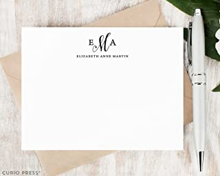 couples monogram stationery