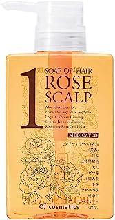 オブ・コスメティックス [医薬部外品] 薬用ソープオブヘア・1-ROスキャルプ(髪にハリ・コシが欲しい方) 265ml ローズブーケの香り 美容室専売シャンプー 頭皮ケアシャンプー オブコスメ
