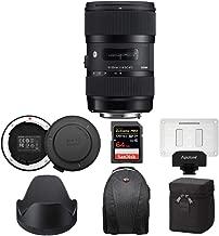 $679 » Sigma 18-35mm F1.8 Art DC HSM Lens for Canon EF Includes USB Dock, Aputure AL-M9 LED Light & 64GB SD Card Extreme PRO Advanced Travel Bundle (5 Items)