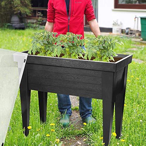 Freizeitmöbel und Leitern XXL Hochbeet mit Deckel Frühbeet Gewächshaus Treibhaus Blumenkasten Kräuterbeet