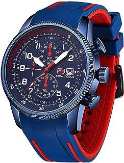 MINI FOCUS Men's Watches Fashion Waterproof Silicone Strap Quartz Watch Man Luxury Military Sport Chronograph Wristwatch Male