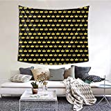 N/A Royal Golden King Crown Tapices negro para colgar en la pared, 60 x 40 pulgadas, para dormitorio, sala de estar, dormitorio