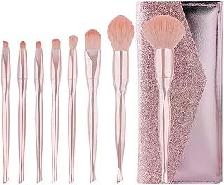 Jaspik Makeup Brushes Set Generic for Girls, 8pcs Professional Makeup Brush for Face Eye Shadow Eyeliner Foundation Brush Lip Powder Liquid Cream,Makeup Brush Kit for Daily Life and Travel (Pink)