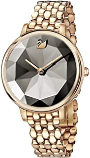 Crystal Lake Watch Metal Bracelet Gray Rose Gold Tone
