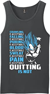 Vegeta Super Saiyan Quote Quitting is Not Acceptable Anime Shirt