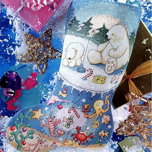 Joyautum Christmas Snow Max 56% OFF Virginia Beach Mall Stockings DIY Stitch Cross Kits Counted