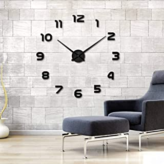 DB 3D Wall Clock Lowest Digital Wall Clock Fashion Living Room Clock Large Decorative Wall Clock Landscape DIY-002-b_47inch