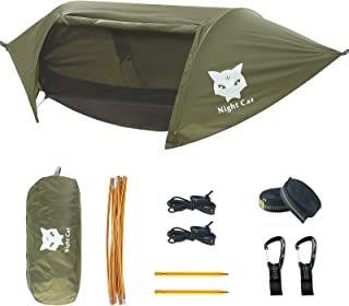 Night Cat Camping Hammock Tent with Mosquito Net and Rain...