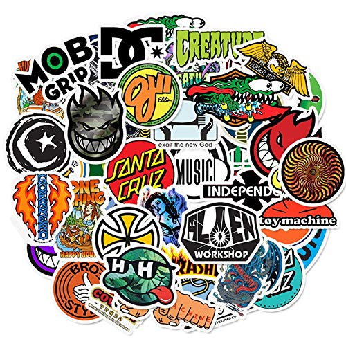 DSSJ Skateboard Fashion Brand Logo Waterproof Sticker For Luggage Car Guaitar Skateboard Phone Laptop Bicycle Stickers 50pcs
