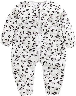 Pijamas una Pieza Bebe Invierno Mameluco Monos con Cremallera Ropa de Dormir Unisex Saco de Dormir de Franela Cálida una Pieza Pijamas Party