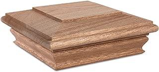 Woodway Flat Top 6x6 Post Cap – Premium Mahogany Wood Fence Post Cap, Newel Post Top 6 x 6, Fits Up to 5.5 x 5.5 Inch Post, 1PC