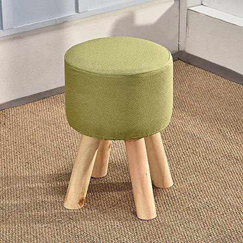 LJHA Tabouret pliable Tabouret de rehauts de bois solide / tabouret de salon créatif / tabouret de chaussures en évolution / tabouret de canapé en tissu (taille: 40 * 28 cm) chaise patchwork ( Couleur : Vert )