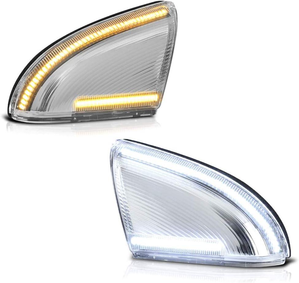 VIPMOTOZ Switchback Full White Amber Sign LED Side Mirror Max 80% OFF Turn Elegant