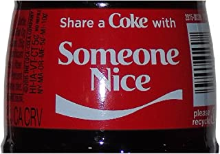 Christmas Share A Coke with Someone Nice Glass Bottle 2015