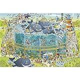 XYMLGS Jigsaw Puzzle de Madera de Arte Pintura Aceite 300/500 PC / 1000/1500 Piezas for Adultos y niños, Dibujos Animados Ballena del Acuario Difícil de Bricolaje Mosaico Decoración (Size : 300 PCS)