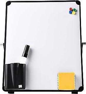 Milageto Mini-whiteboard, droog afwasbaar, magnetisch, droog afwasbaar, draagbaar, voor klaslokalen, 25 x 25 cm