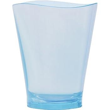 プラキラ(Plakira) タンブラー ゆらぎ ライトブルー Sサイズ 240ml 8 x 8 x 9.5 cm 割れないグラス トライタン 食洗機対応 耐熱100度 子供にも安心 アウトドア うがいコップ 日本製 LG101-240LB