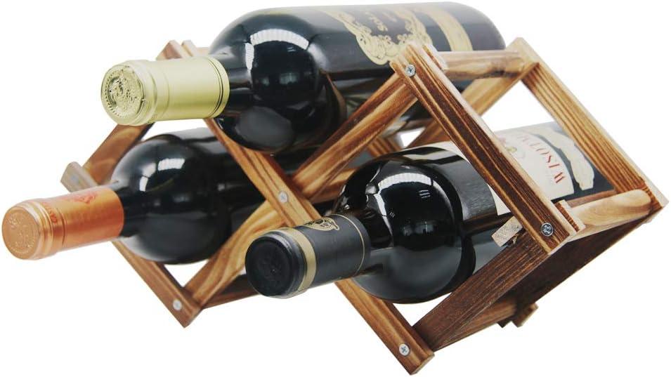 Boston Mall MUGLIO Foldable Superlatite Wooden Wine Bottle Natural Holder Free Standing