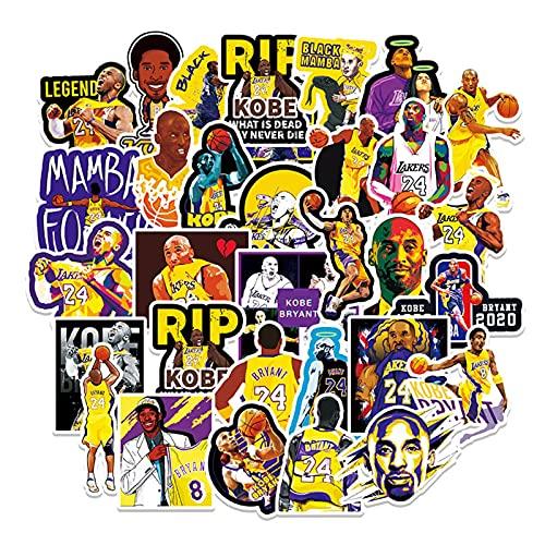 51 pegatinas de dibujos animados de la NBA Star Kobe Scooter maleta coche guitarra tableta impermeable pegatinas