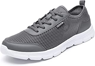 JIANKE Mens Mesh Trainers Lightweight Sports Running Shoes Breathable Athletic Sneakers