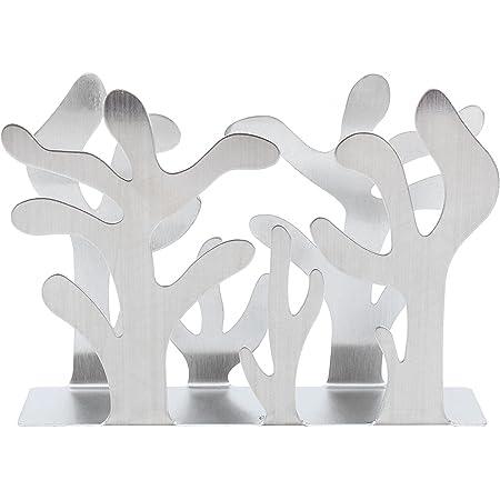 Napkin Holder Silver Plants Shape Stainless Steel Serviette Holder Modern Metal Napkin Holder Table Decoration Napkin Storage Rack